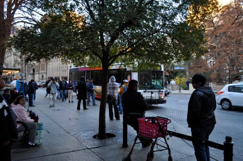 VIA transit buses on Houston Street.