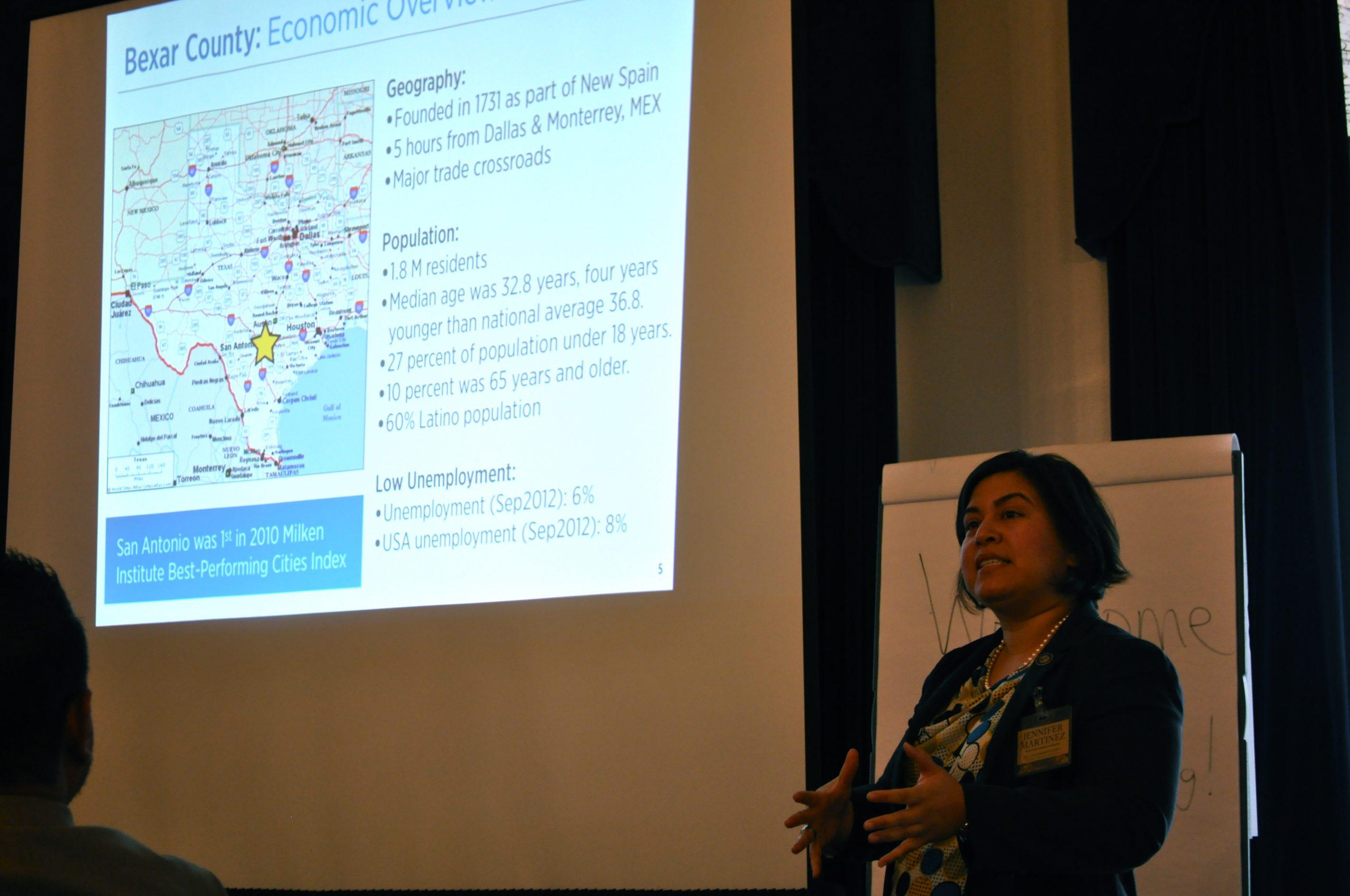 Jen Martinez, of the Bexar County Economic Development office,