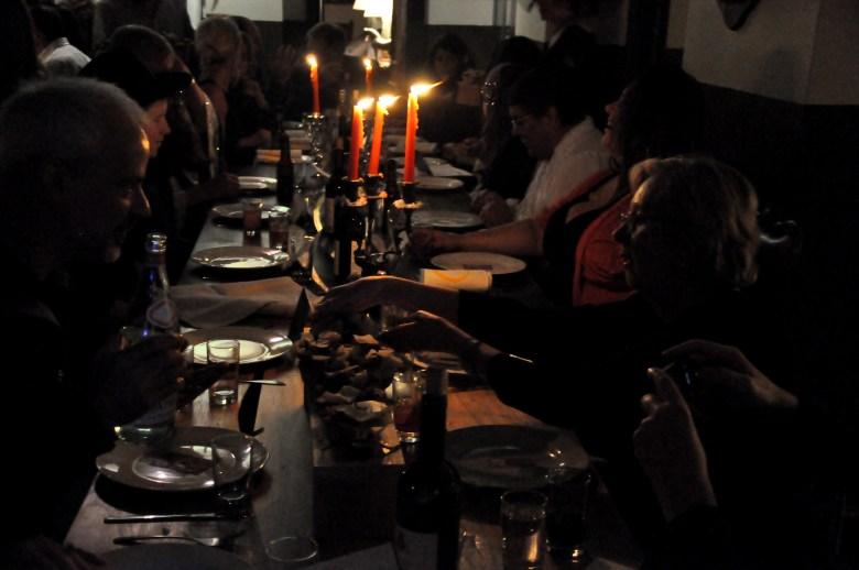 Candlelight anticipation.
