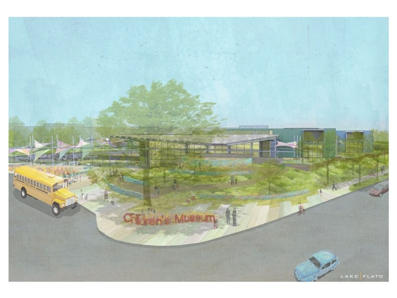 San Antonio Children's Museum rendering by Lake/Flato Architects.
