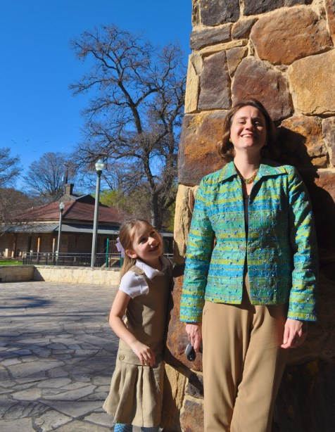 Brackenridge Park Conservancy Executive Director Leilah Powell and her daughter on another busy day at Brackenridge Park.