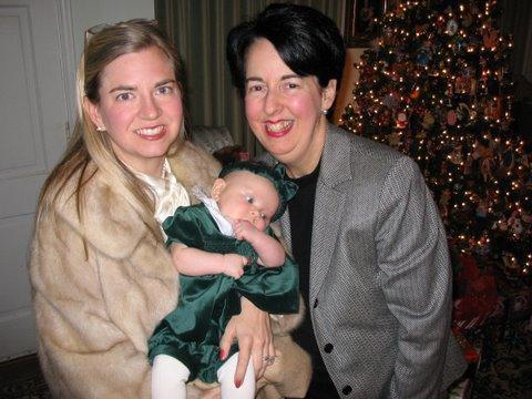 Batz foundation director Laura Townsend (left), with her mother, Louise Batz.