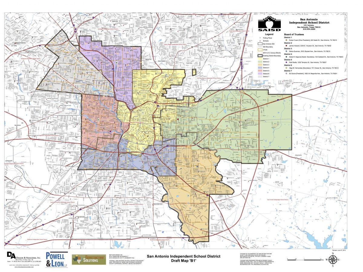 SAISD District Map (draft). Click for larger image.