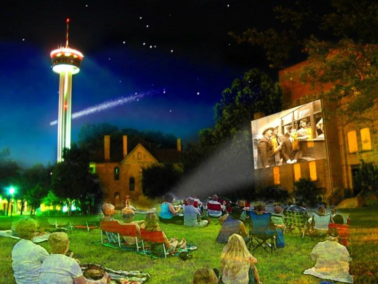 A rendering of Slab Cinema in Hemisfair Park.