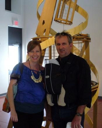 Joey Fauerso with husband Riley Robinson.