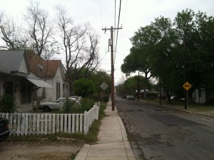 My street, East French Place Reed Morris