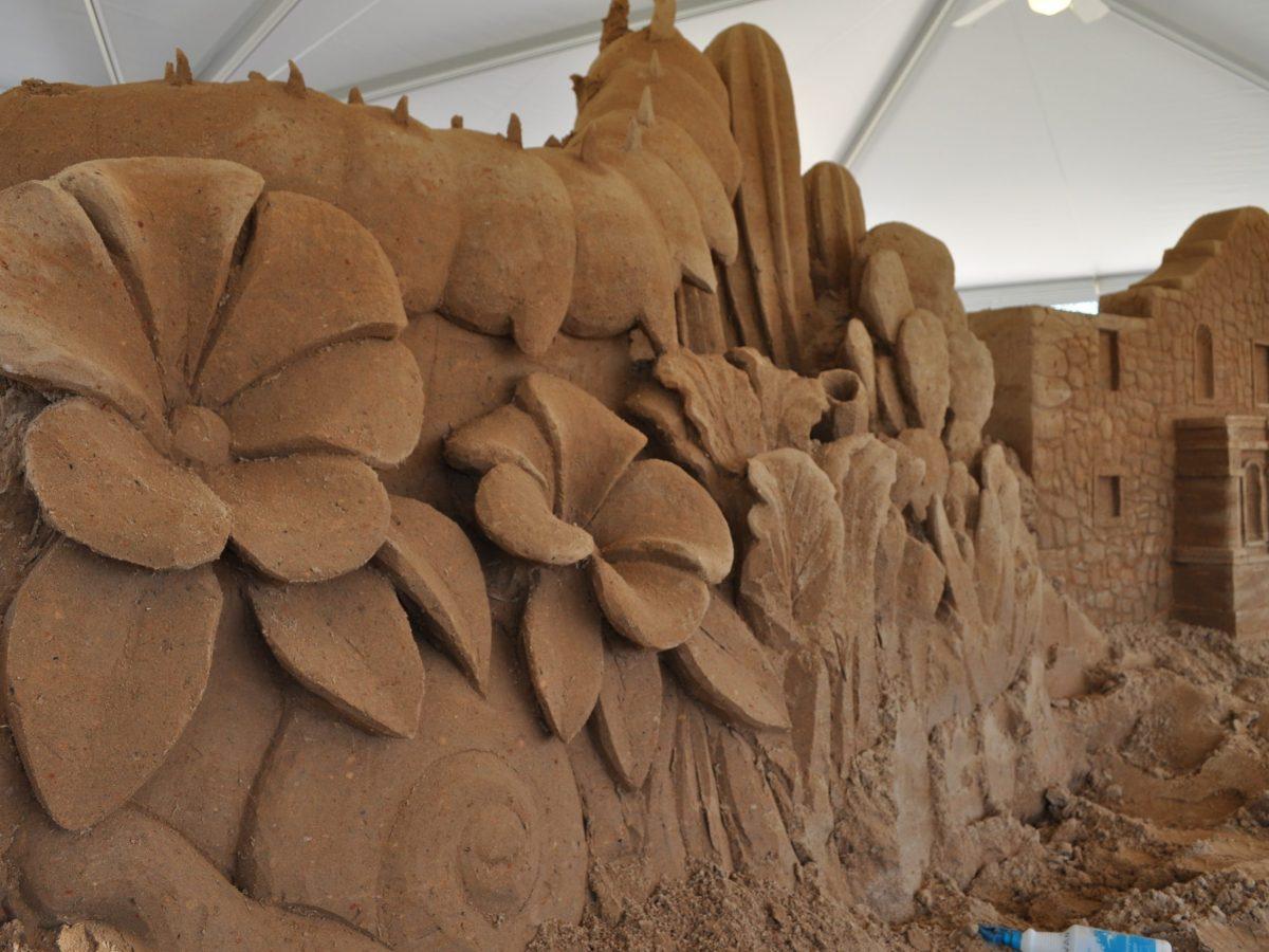 Ted Siebert's sandy handywork. Photo by Iris Dimmick.