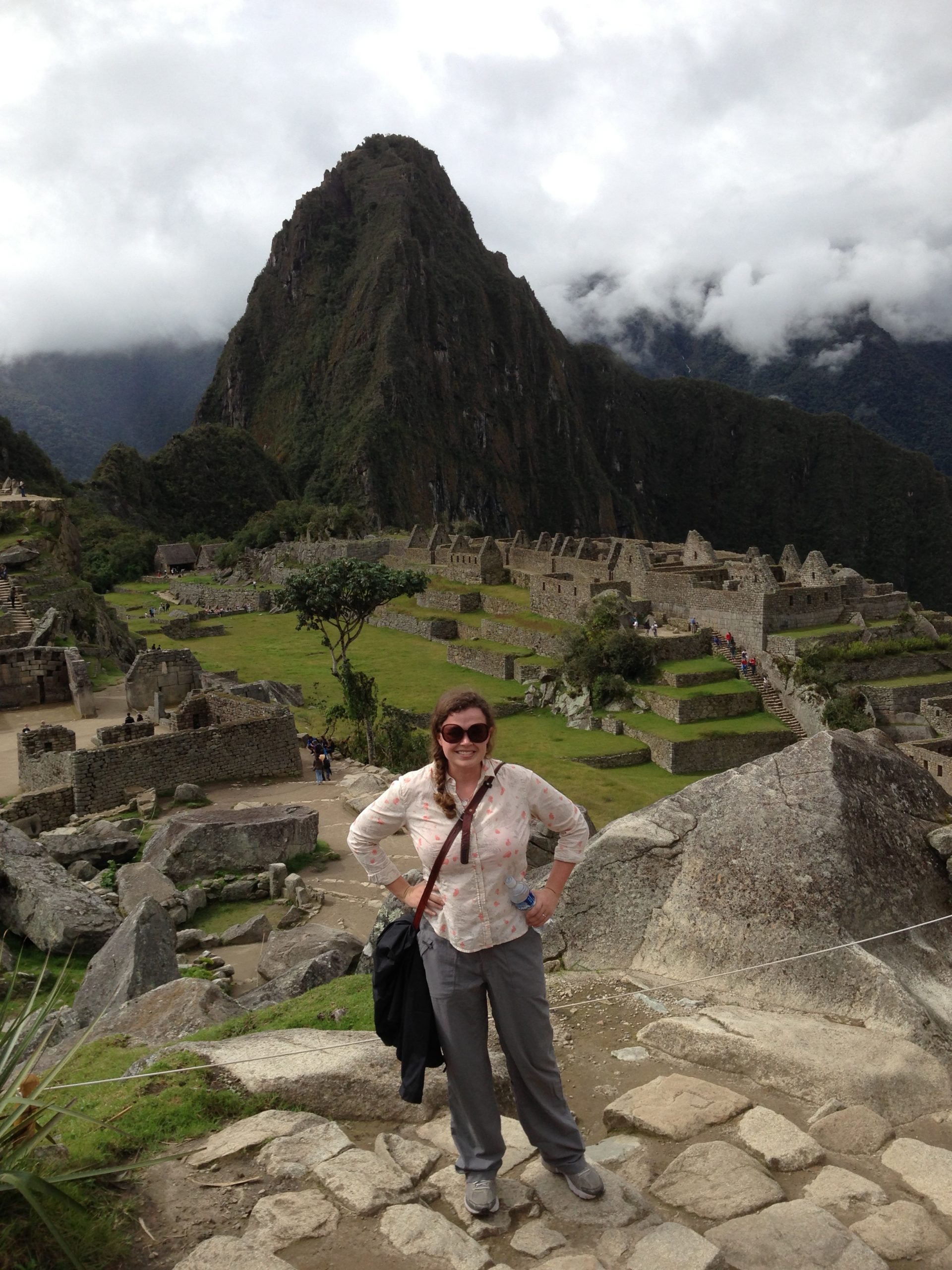 Alone but not lonely at Machu Picchu.