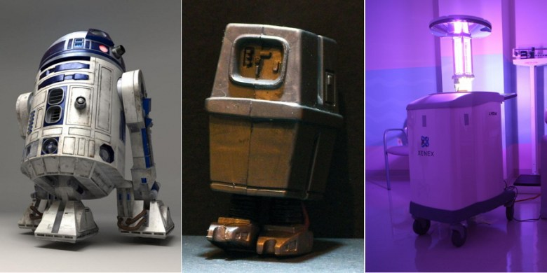 R2-D2, Gonk and Xenex.