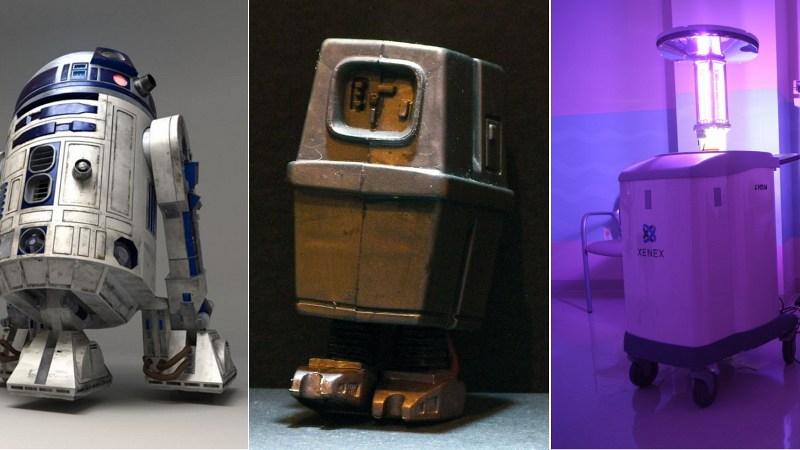 R2-D2, Wonk and Xenex.
