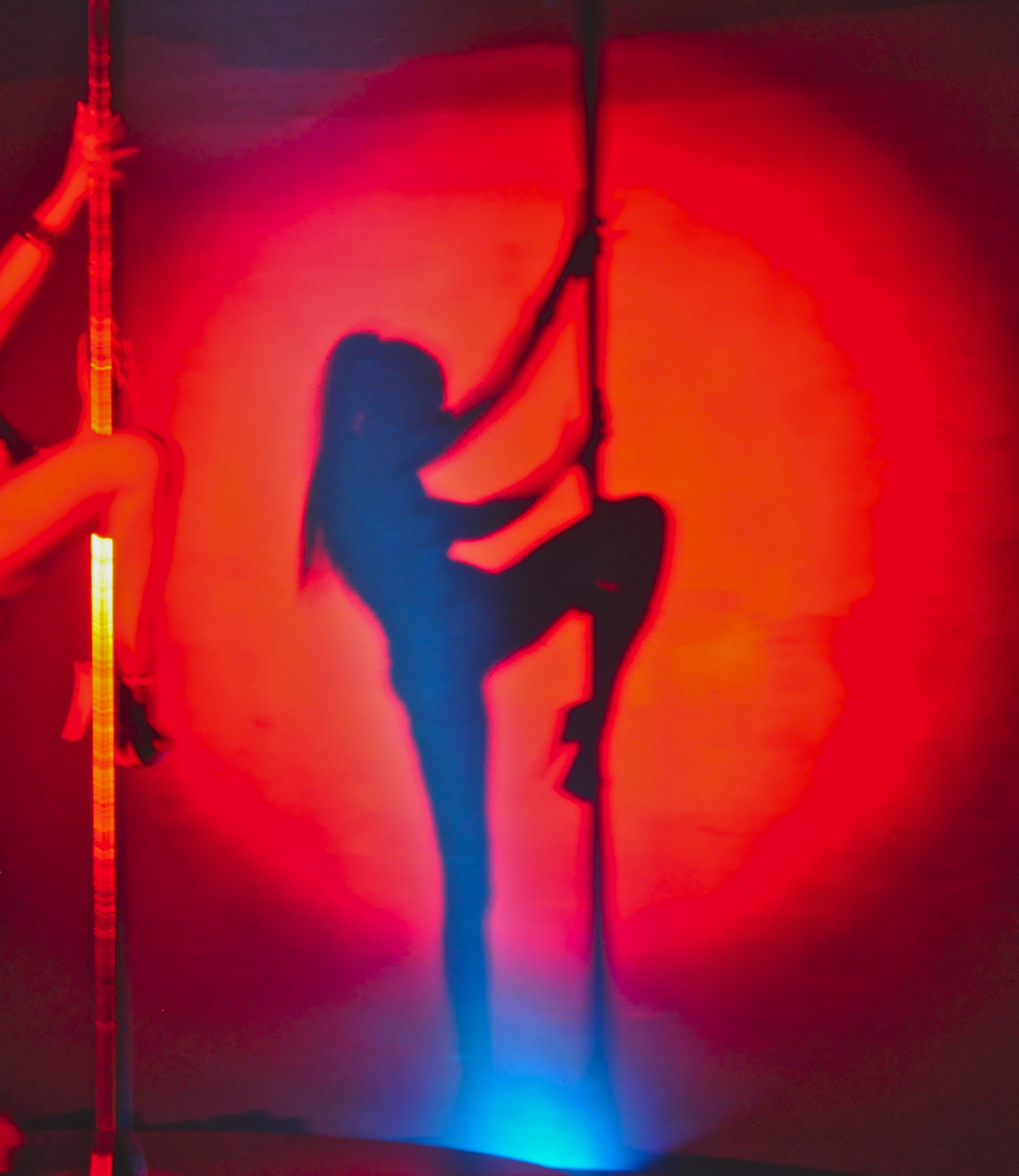 """S. T. Shimi plays the role of stripper in """"Hetaerae,"""" now playing at Jump-Start Performance Theater. Photo by Iris Dimmick."""