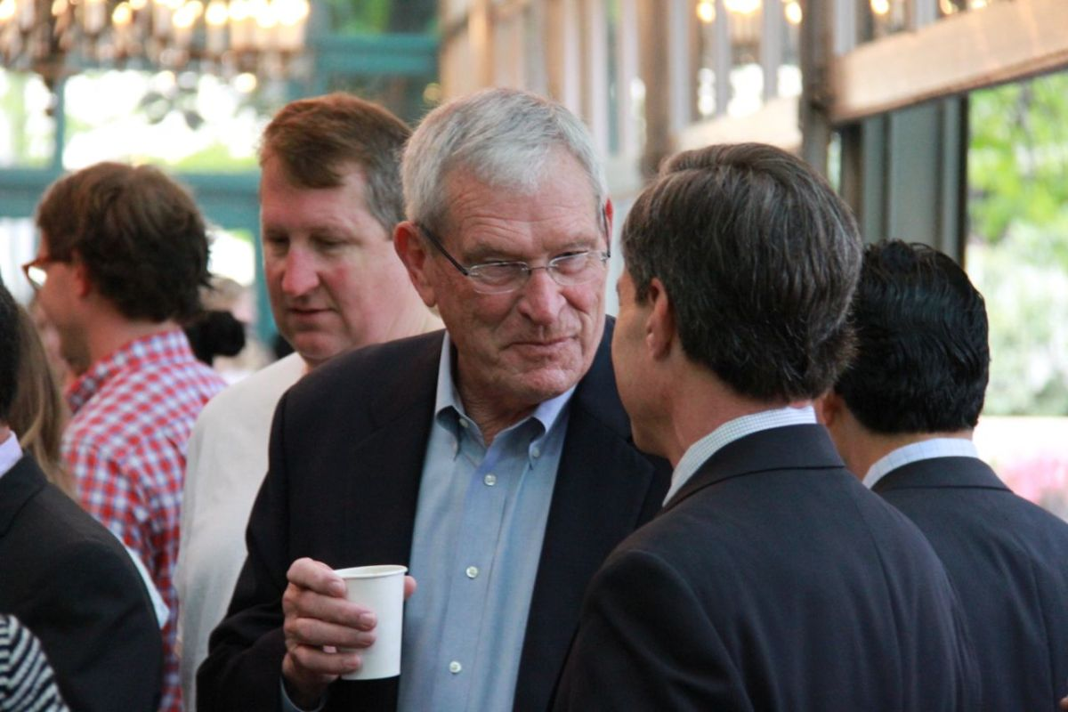 Local an international business associates are speculated that Ed Whitacre, pictured above at an event in San Antonio, is President Trump's pick for U.S. ambassador to Mexico.