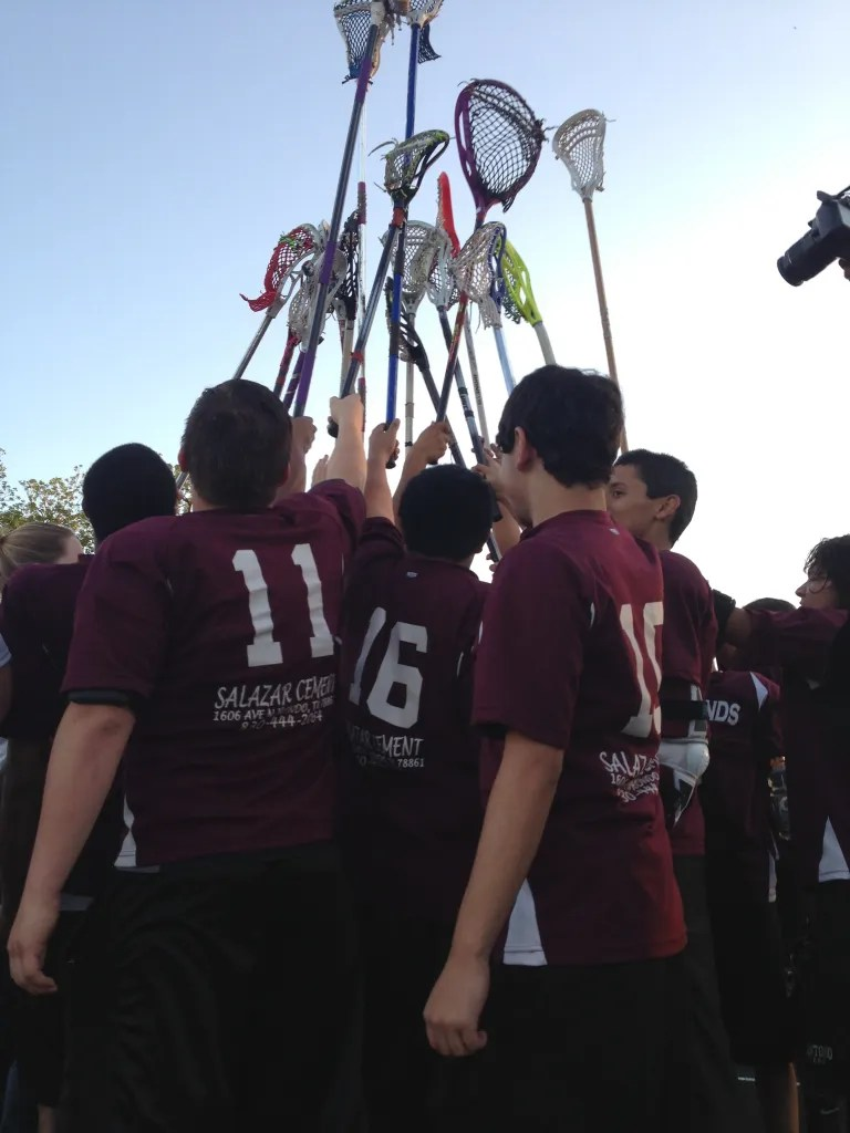 One last team huddle for the 2013 season.