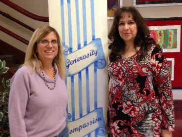 Bonnye Cavazos and Pita Rodriguez at Hawthorne Academy