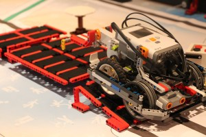 The Randomists' 2013 FLL robot.  (Photo courtesy of Diane Clements)