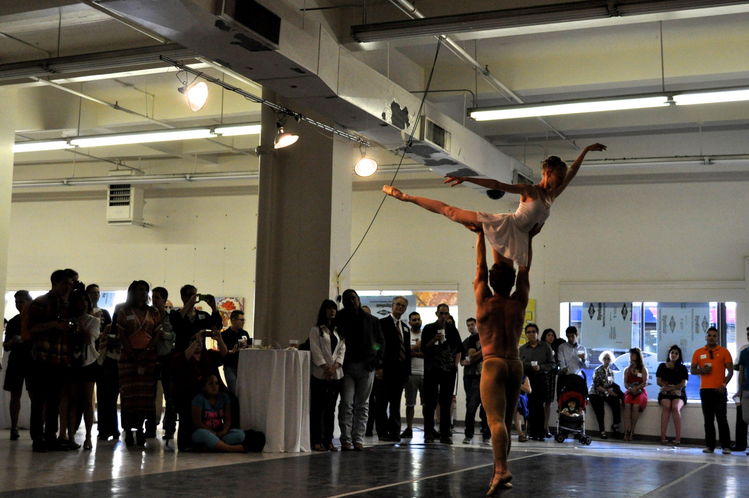 "Ballet San Antonio members perform ""Da Luz"" at the Center City Open House. Photo by Iris Dimmick."