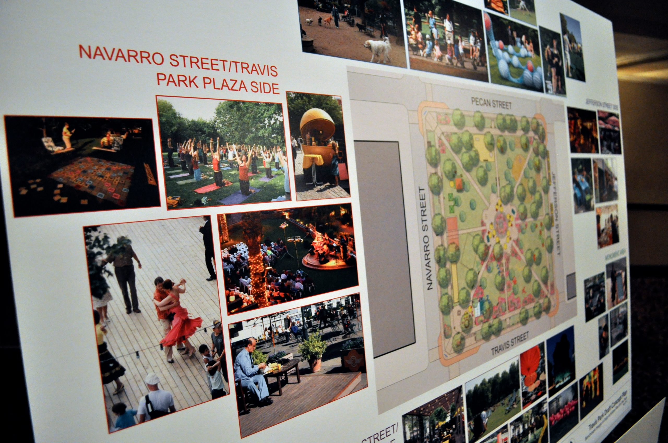 Project for Public Spaces' Travis Park plan draft. Photo by Iris Dimmick.