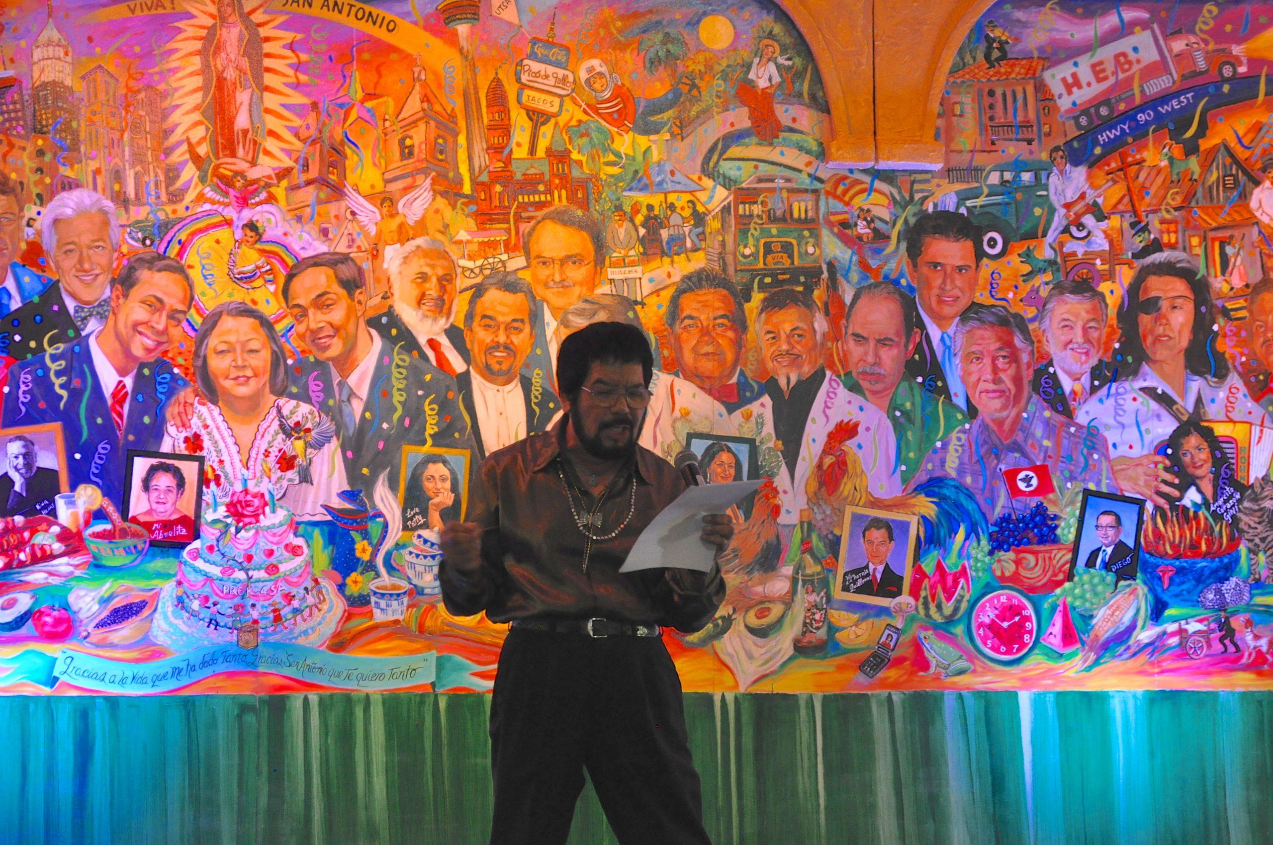 Poet and artist Neftalí de Leon performs his new poem.