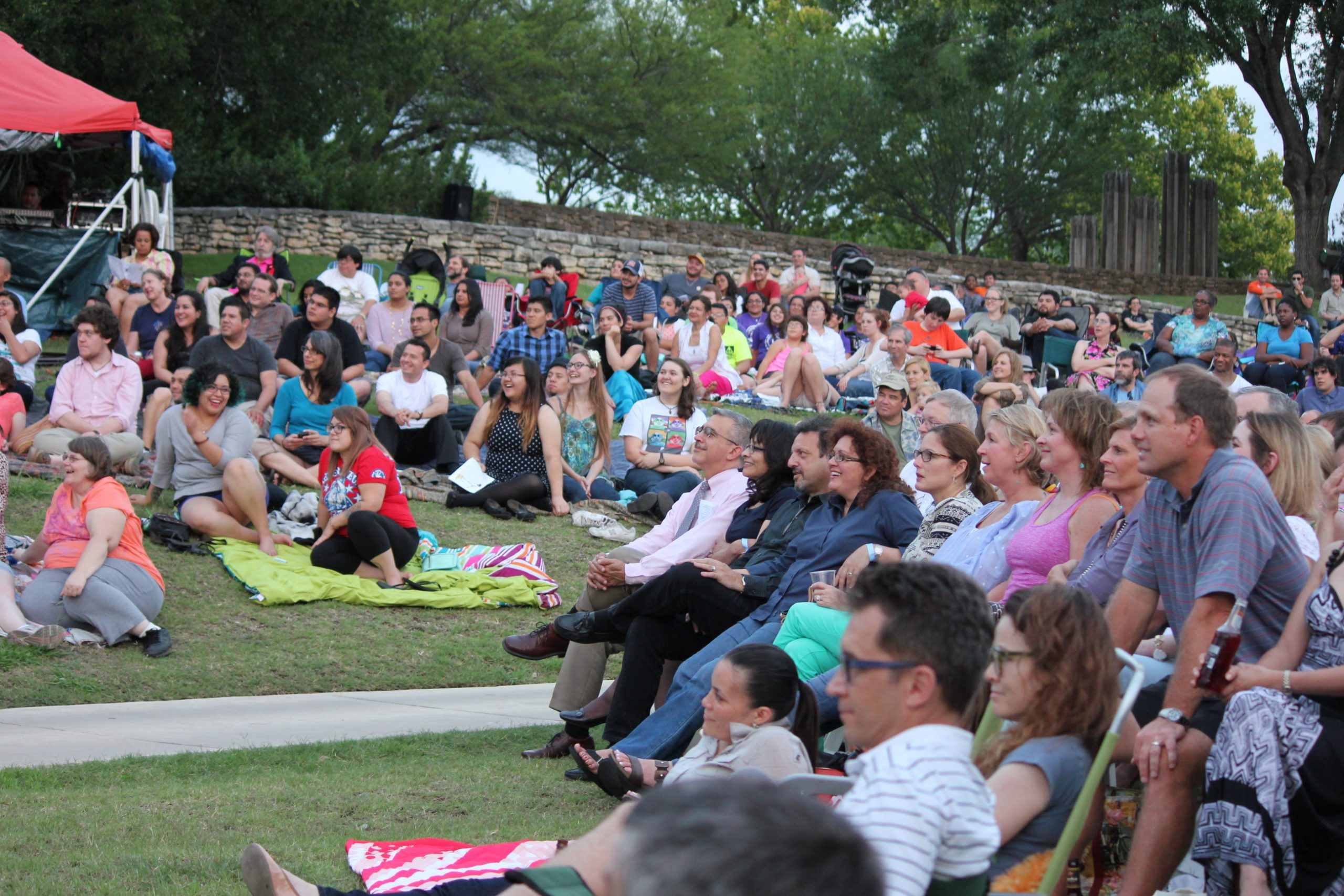 All smiles from an attentive audience. Photo by Melanie Robinson.