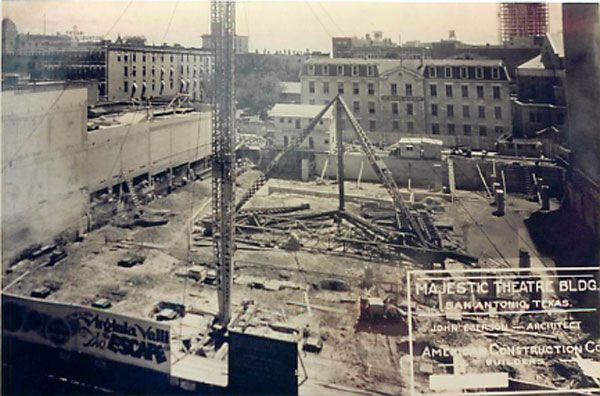 Construction of the Majestic/Empire theaters circa 1929. Photo courtesy of The Majestic/Empire.