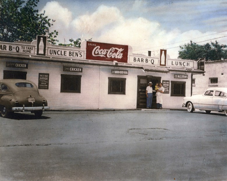Uncle Ben's Barbecue, where Hank and Rosemary got their start.