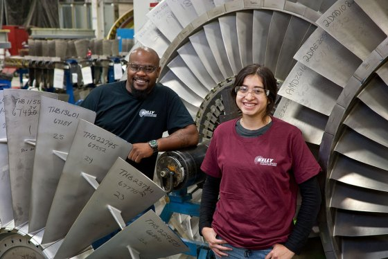 Students and workers at Lockheed Martin's Kelly Aviation Center at Port San Antonio. Photo  courtesy of Alamo Colleges.