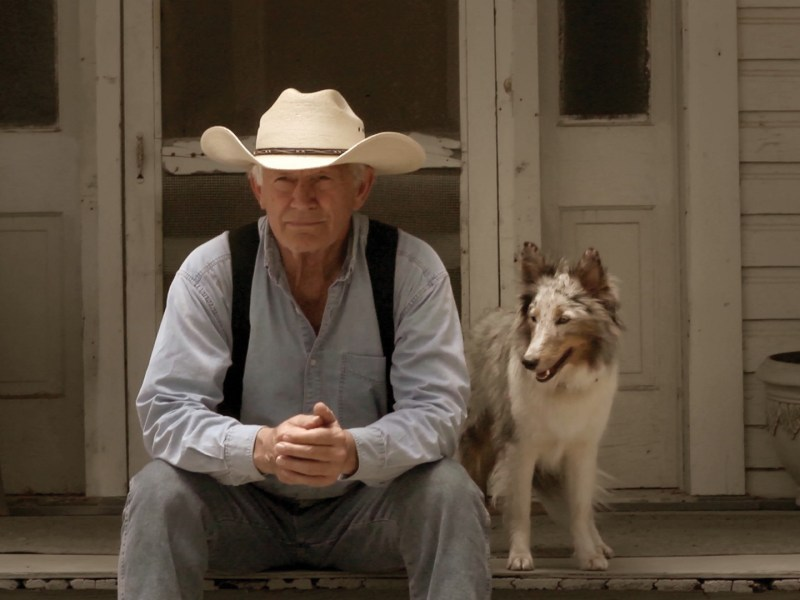 "Lance Henriksen and Scout are now best buds on the ranch in the film, ""Champion."" Courtesy photo/production still."
