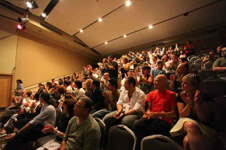 The audience applauds filmmakers during a previous year's SA Film Festival screening.
