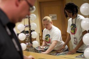 Volunteers at the SA Film Fest.