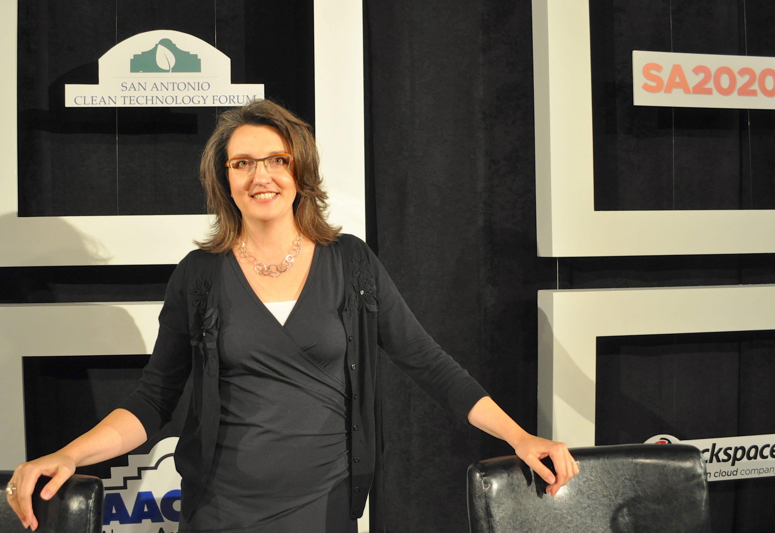 Rackspace Director of Sustainability Melissa Gray poses for a photo after the Clean Air Forum yesterday. Photo by Iris Dimmick.