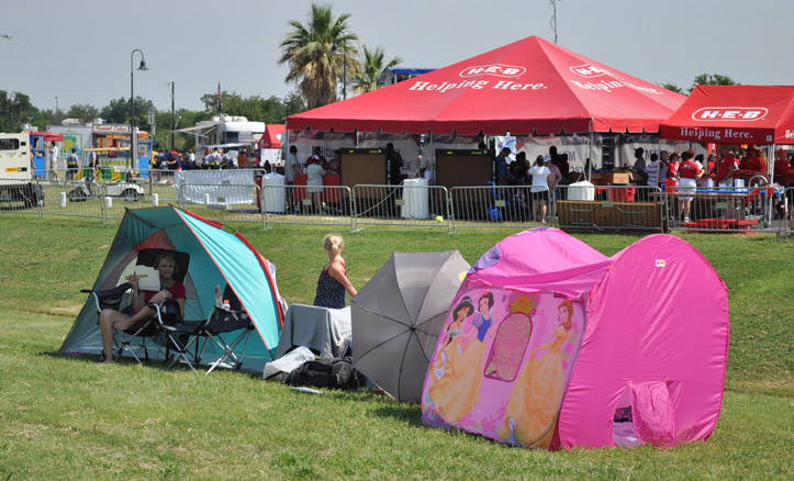 Even a princess has to make do with a tent. Photo by Annette Crawford.