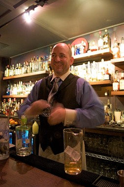 Olaf Harmel has since partnered up with Steve Mahoney to serve classic and modern cocktails at Blue Box Upstairs. Photo by Iris Dimmick.