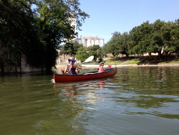 Tracy and Nola Hamilton ply the waters on the Fourth of July.