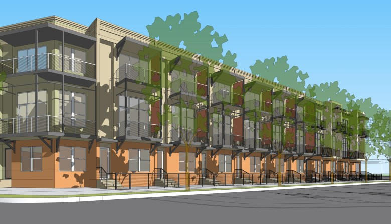Rendering of the future townhouses of East Quincy. Image courtesy of Steve Yndo.