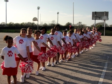 Kids at Converse Elementary got their cheer on last year to score points for their community.