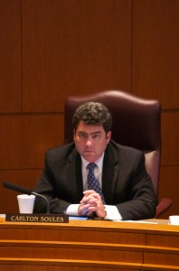 Councilman Soules during the citizens to be heard session. Photo by Katee Boyd.