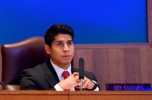 Councilman Saldaña at the NDO citizens to be heard session. Photo by Katee Boyd.