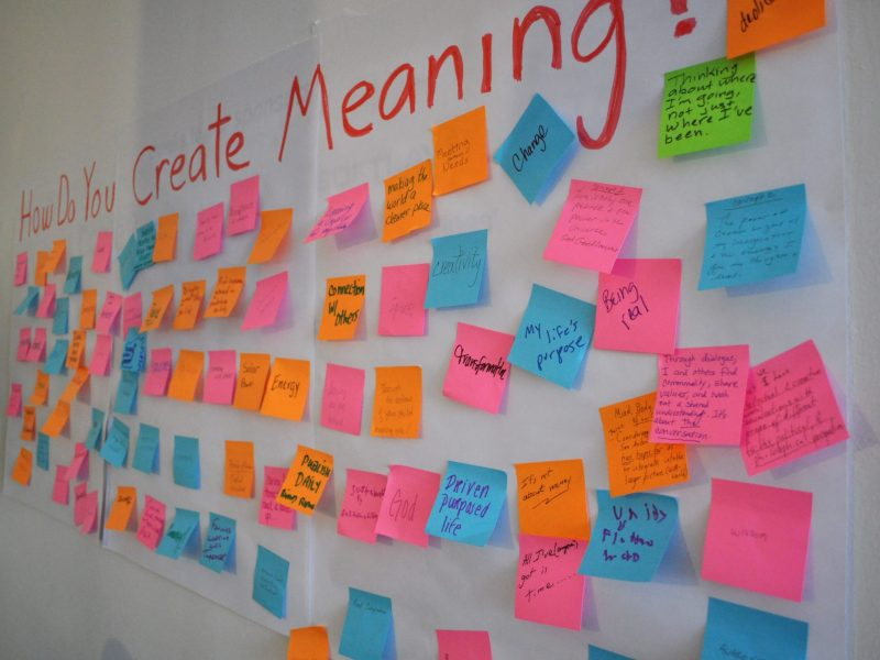 The collective conscious attempts to describe the creation of meaning. Heavy. Photo by Iris Dimmick.