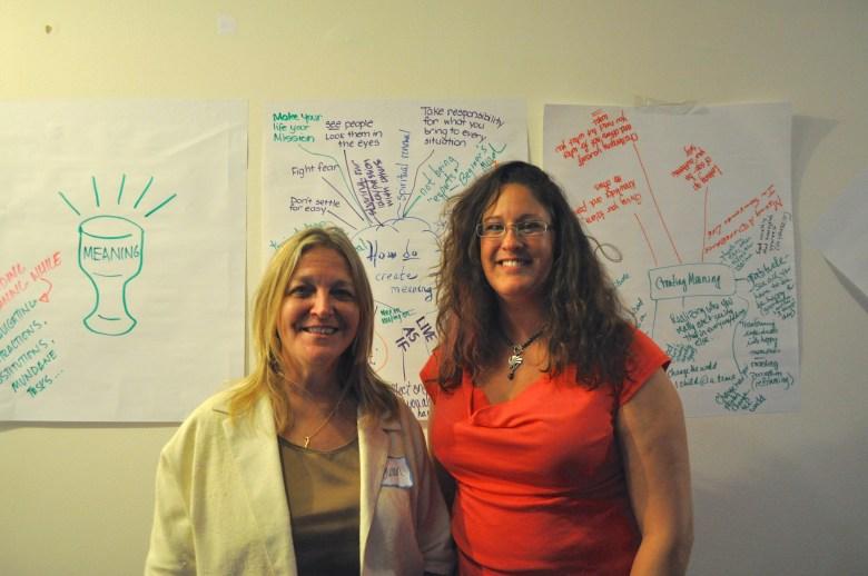 TEDxSanAntonio volunteer organizers Susan Price (left) and Cynthia Phelps. Photo by Iris Dimmick.