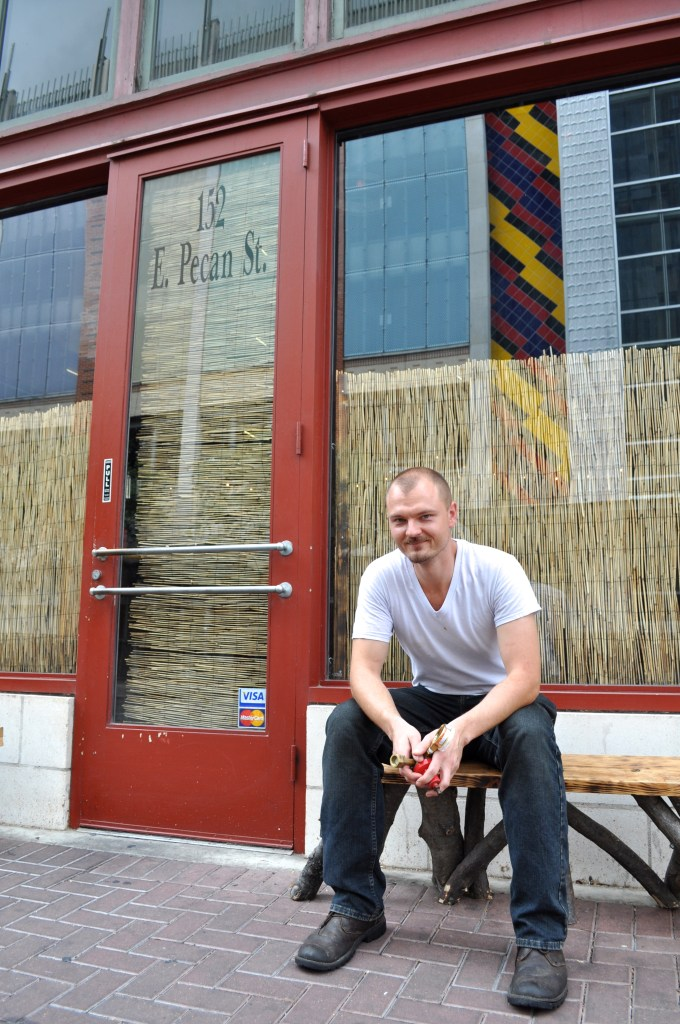 Chef Michael Sohocki poses for a photo after the lunch rush at Kimura. Photo by Iris Dimmick.