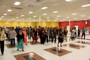 Seniors in District 6 partake in a group event as part of the Community Challenge.