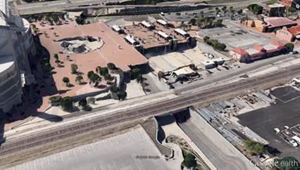 Grade separation on Montana. from Google Maps