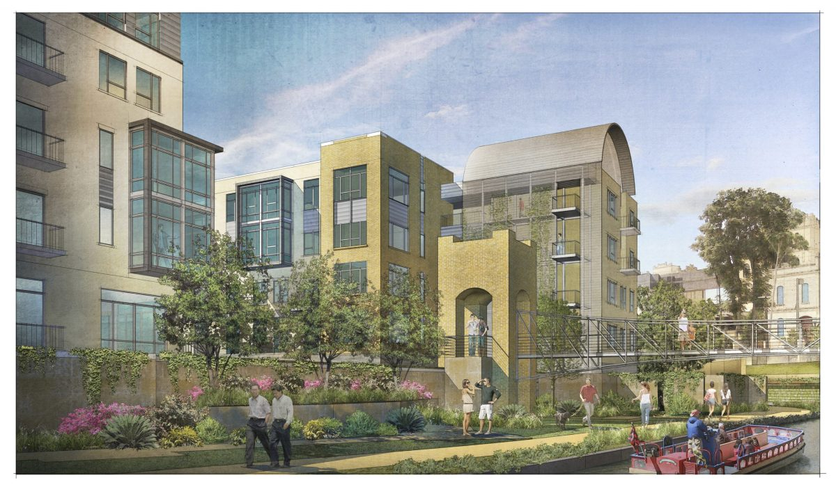 The River House rendering courtesy of Hixon Properties.
