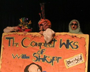 "Members of the original Convergent crew perform ""Compleat Wks of Willm Shkspr (Abridged)"" performed in San Antonio. Courtesy photo."