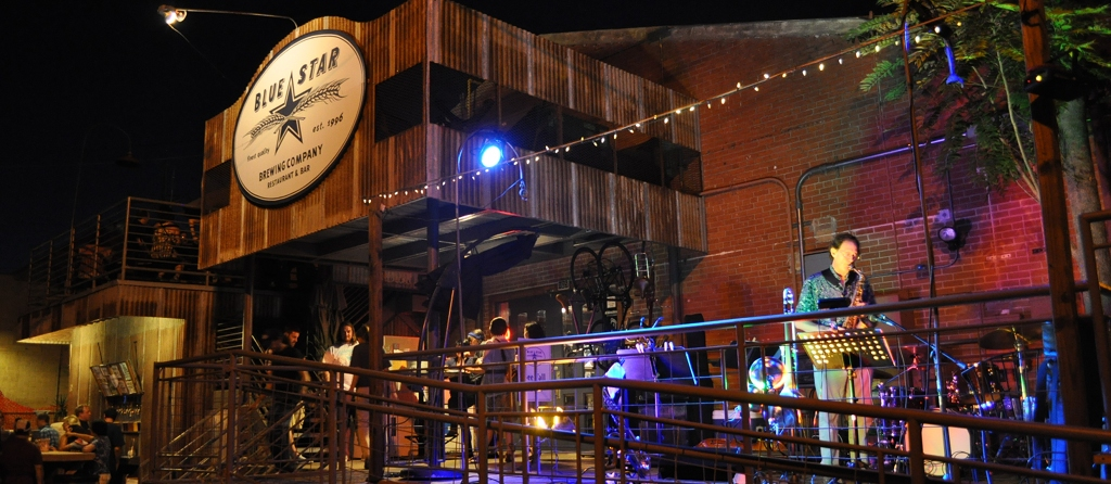 The Blue Star Brewery on a recent First Friday. Photo by Iris Dimmick.