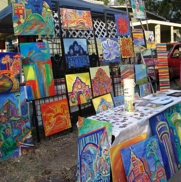 Just some of the cool artwork I've seen downtown at First Friday. Photo by Nicole Goodman.