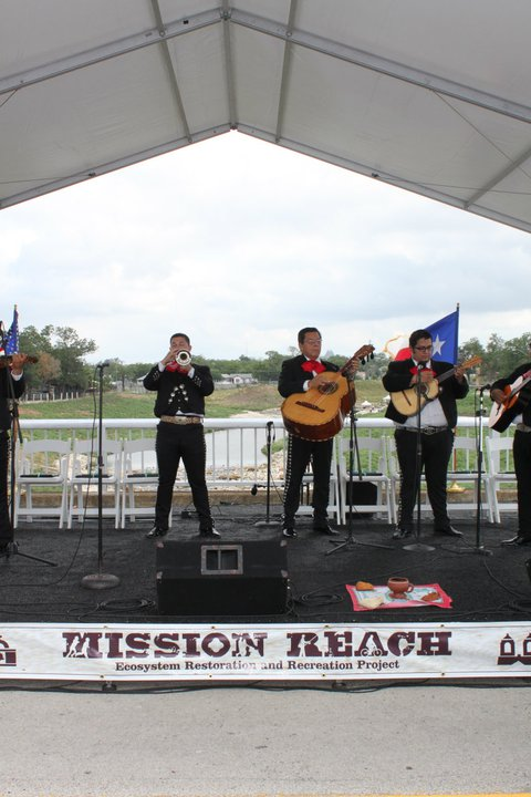 Mariachi play during the opening ceremony of Phase One and Two of the Mission Reach on July 25, 2011. Photo courtesy of SARA.
