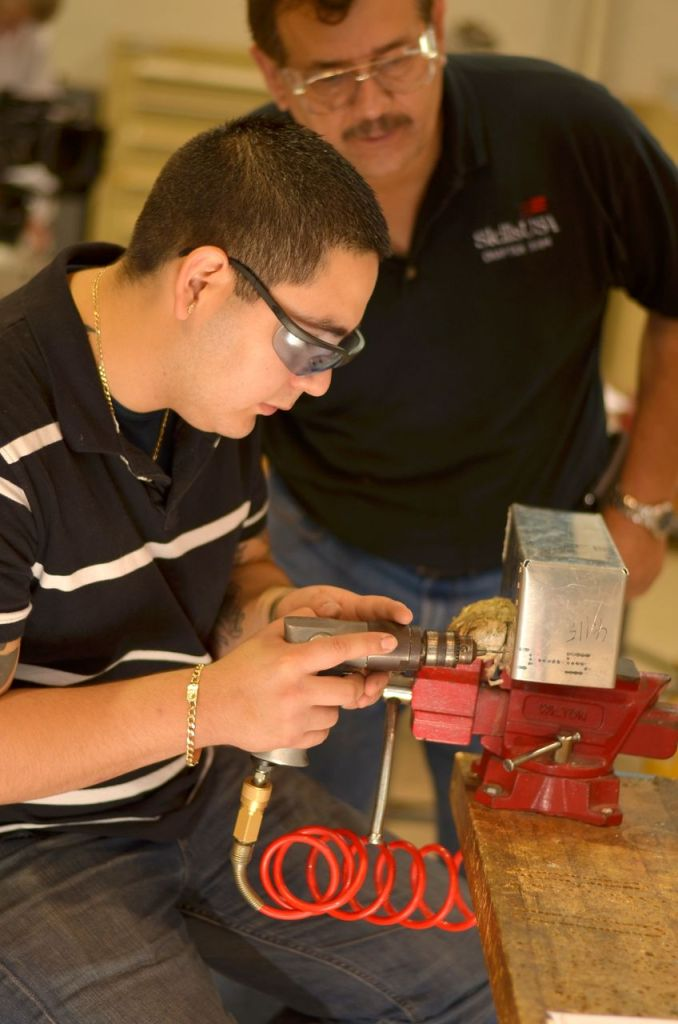 Students as young as 16 prepare for careers in aerospace at the Alamo Aerospace Academy, part of Alamo Colleges. Since 2001 the program has become an important avenue for young people to kick start their careers with aerospace firms at Kelly Field. Photo courtesy Port San Antonio.