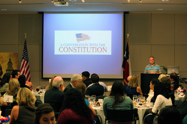 """A """"Conversation with the Constitution"""" begins. Photo by Sarah Hedrick."""