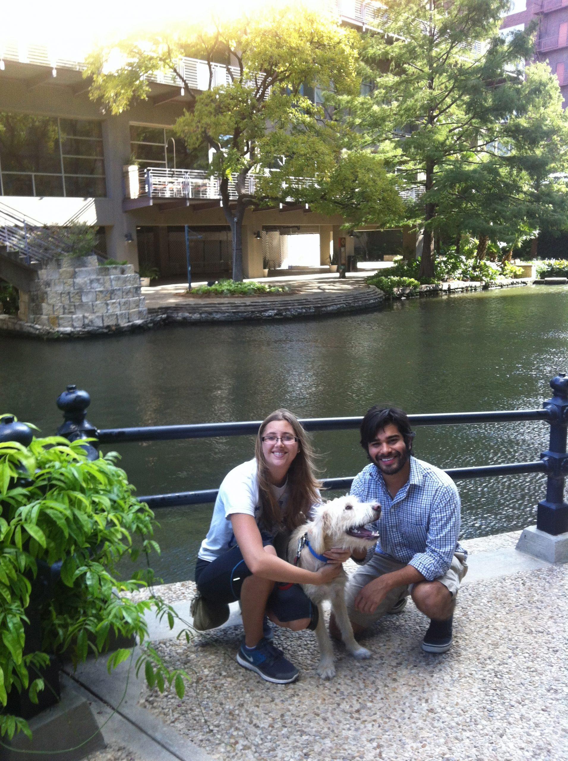 My girlfriend Jessica, Ralf and I